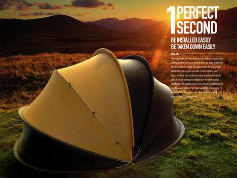 Accordion Assembly Tents - The 1 Perfect Second Shelter Can Be Set Up with One Swift Motion