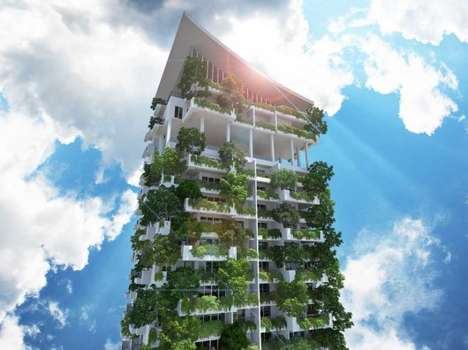 Towering Green Residences - The Clearpoint Residencies is a Lush Vertical Garden Building