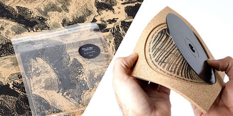 Cork Jewel Cases - Wall to Wall Carpeting Album Packaging Comprises Creative Materiality