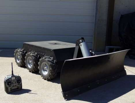 Remote-Controlled Snow Shovelers - The SuperDroid Robot RC Snow Plow Clears Driveways in the Winter
