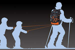The Snowmule Backpack Helps You Haul Tired Children on Skis Behind You