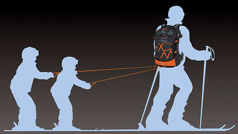 Tot-Toting Knapsacks - The Snowmule Backpack Helps You Haul Tired Children on Skis Behind You