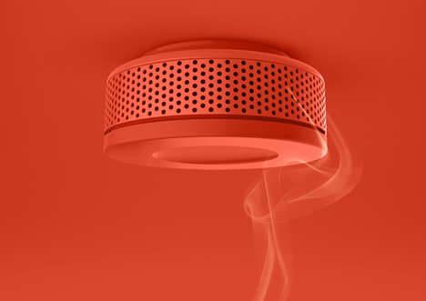 Redesignable Smoke Detectors - The Cozy Fire Alarm is an All-Round Practical Device Redesign