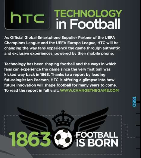 Tech-Forecasting Football Graphics - This HTC Infographic Looks Ahead at the Future of Football