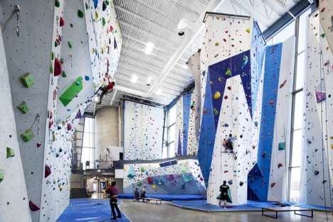 Sugar-Inspired Rock Climbing - The Allez Up Rock Climbing Facility was Built in an Old Sugar Refiner