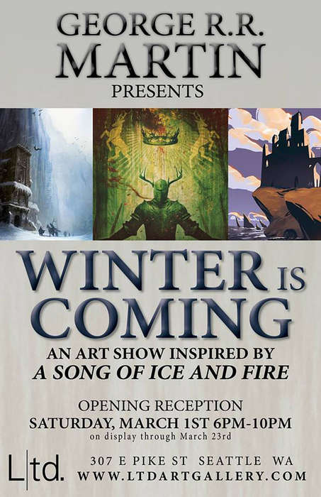 Fantasy-Themed Art Shows - George R.R. Martin is Hosting the Winter is Coming Art Show