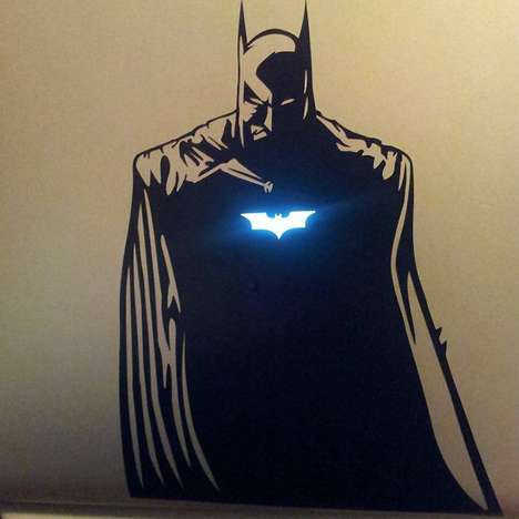 Menacing Vigilante Decals - Strike Fear into the Hearts of PCs with the Batman Macbook Sticker