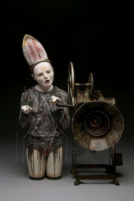 Creepy Theater-Inspired Sculptures - Shadow Circus by Kirsten Stingl is Full of Dark Narrative