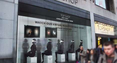 Immersive Virtual Fashion Shows - Topshop Unique Fall 2014 Fashion Will Be Virtually Presented