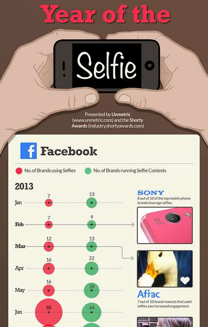 Selfie Branding Graphics - The Year of the Selfie Graphic Examines Successful Selfie Campaigns