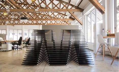 Slatted Alphabetic Desks - The MetropolitanRepublic Reception is a 3D Puzzle of the Firm