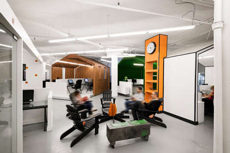 Pod-Infused Workspaces - Creative Offices Space Bring Forth a Positive Environment
