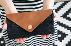 Chic Crocheted Clutches - This Leather Flap Clutch Tutorial is Perfect for Budget-Friendly Shoppers