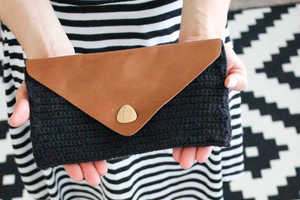 This Leather Flap Clutch Tutorial is Perfect for Budget-Friendly Shoppers
