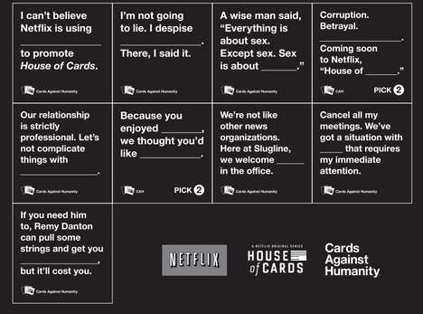 TV Card Game Spoofs - The Special Edition House of Cards Against Humanity Pack is Hilarious