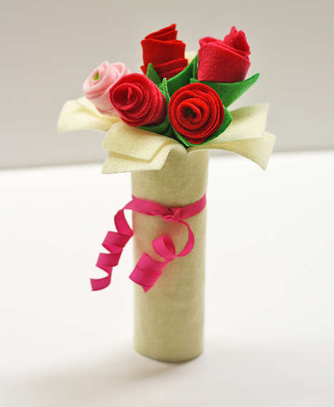 Crafty Felt Bouquets - This Bouquet of Felt Roses is a Fun Alternative to Traditional Flowers