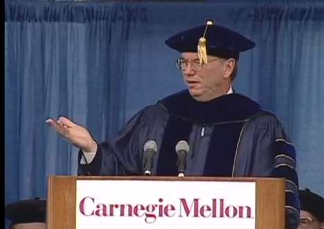 Progress and Achievement - Eric Schmidt Talks Moving Forward in hHs Progress Commencement Speech