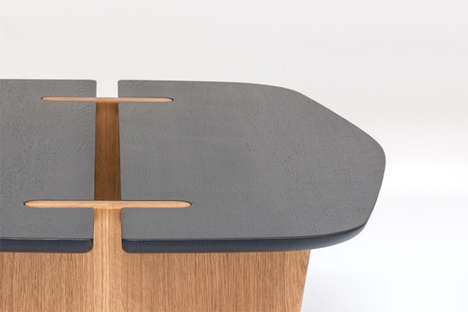 Split-Topped Tables - The Surf Table Brings People Together Despite its Divided Surface