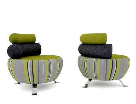 Rotund Layered Seating - The Bobby Chair by Twin Design is Inspired by Sir Bobby Charlton