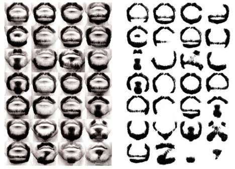 Alphabetical Facial Hair Fonts - This Beard-Based Font Uses Facial Hair to Make the Alphabet