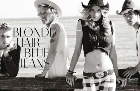 Grayscale Cowboy Editorials - The Vogue Germany