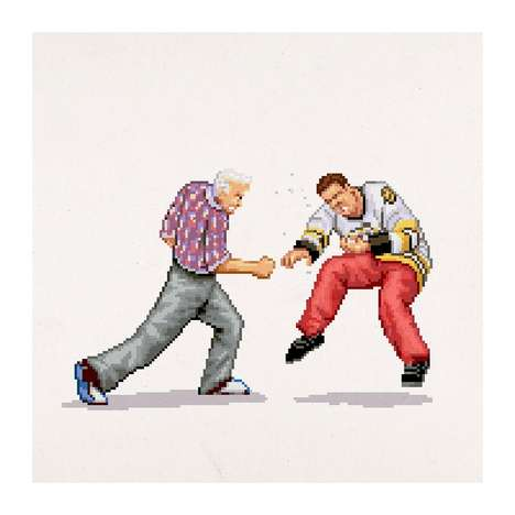 Pixelated Cinema Brawlers - Aled Lewis Draws 8-Bit Versions of Movies Most Famous Punches