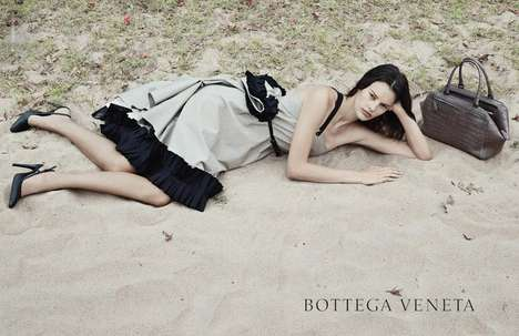 Sullen Nature-Embracing Ads - The Bottega Veneta Spring-Summer 2014 Campaign Stars Amanda Murphy