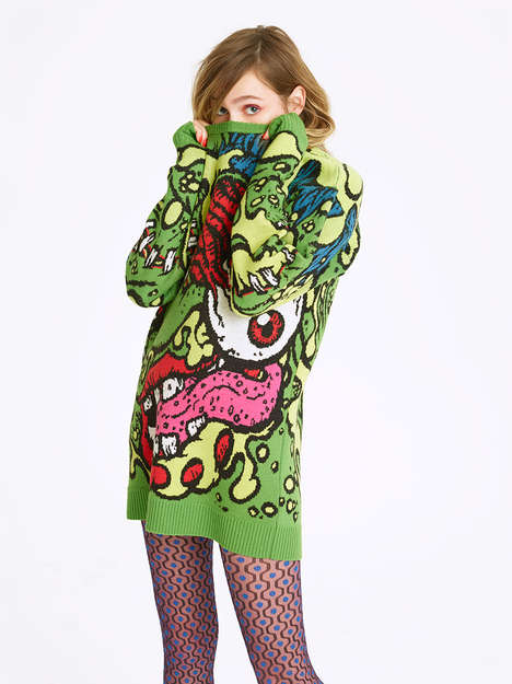 Gory Comical Monster Sweaters - These Jeremy Scott Sweaters are Infused with Madball Characters