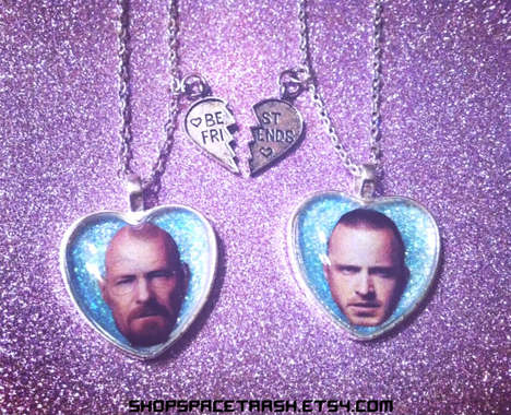 Narcotic Friendship Necklaces - This Breaking Bad Fan Jewelry is From Space Trash