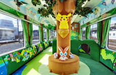 Playful Anime-Inspired Trains