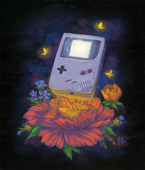 Nostalgia-Fueled Retro Paintings - These Paintings Represent the Old-School Toys Many Grew Up With
