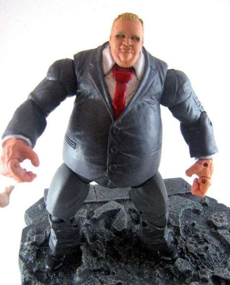 Disgraced Mayor Action Figures - Nuffsaid78 Sold His Custom-Made Rob Ford Toy on eBay