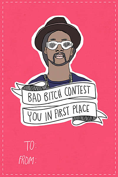 Rapper-Themed Valentine Cards - The Music-Themed Cards Created by Blare Magazine are Chuckle Worthy