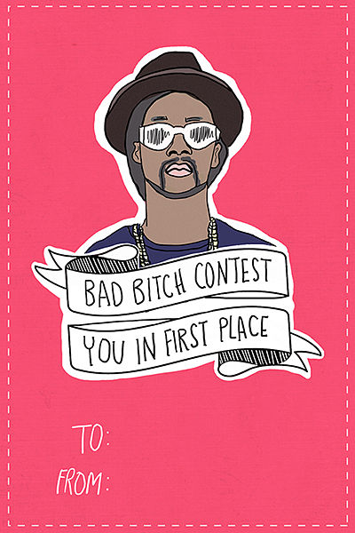 Rapper-Themed Valentine Cards