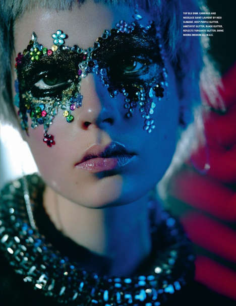 Dazzling Discotheque-Inspired Editorials - The i-D Mag Spring 2014 Issue is Blinged Out