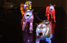 Random Material-Illuminated Animals