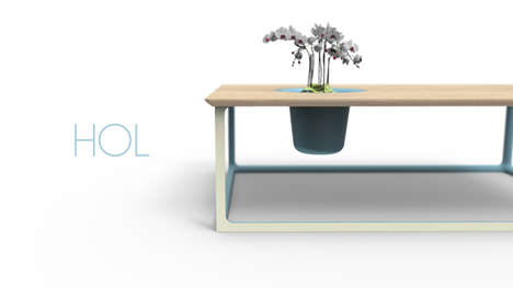 Holey Customizable Furnishings - The Hol Collection Encourages Users to Finalize the Pieces