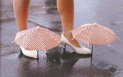 36 Rainy Day Footwear Innovations - From Transparent Puddle Galoshes To Rubber Stiletto Rain Boots