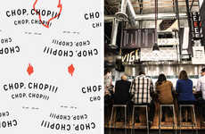 Bold Hipster Asian Branding - The Graphic Branding Used for Kigo Kitchen is Bright and Funky