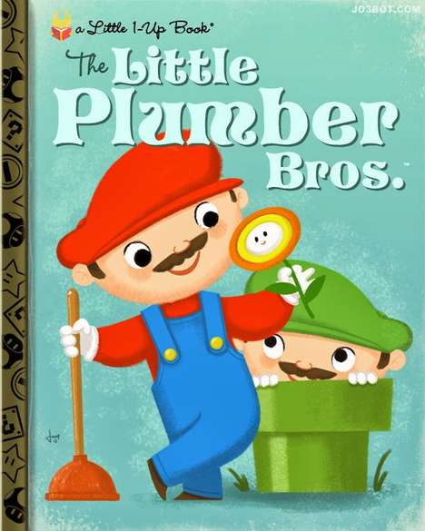 Videogame Nursery Book Modifications - These Covers Re-Imagine Classic Games as Little Golden Books