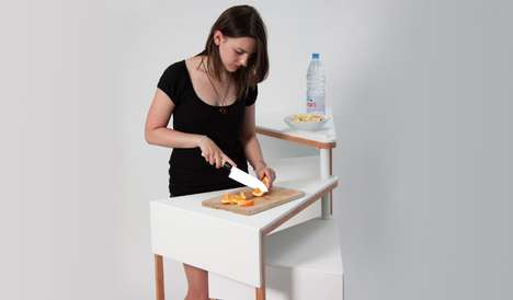 Swivelling Slice Tables - The Convert Table Accommodates Different Activities at Various Heights
