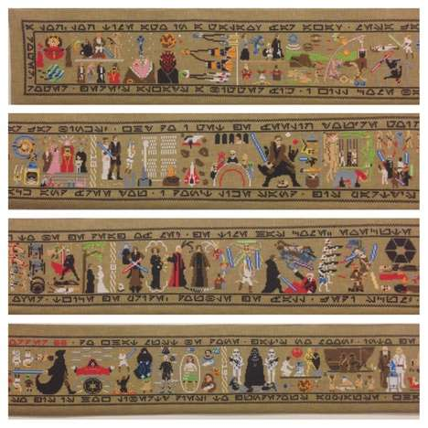 Medieval Sci-Fi Art - The Coruscant Tapestry Measures 30 Feet and Recounts the Entire Star Wars Saga