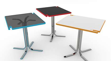 Peg-Like Mall Tables - The HangOut Table Forms a Hook for Suspending Your Shopping Bags