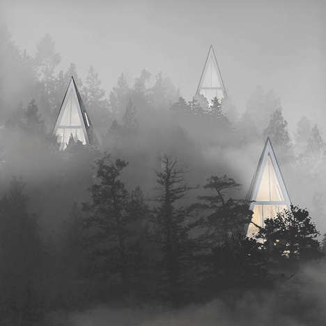 Tree-Shaped Houses - Primeval Symbiosis by Konrad Wojcik Blends Right into the Forest