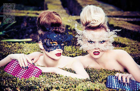 Gorgeous Garden Party Editorials - Ellen von Unwerth Captures this Vogue Italia February 2014 Shoot