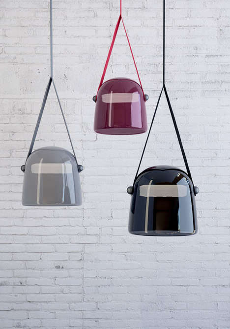 Helmet-Like Lighting - Mona by Lucie Koldova is a Cartoonish Pendant Lamp
