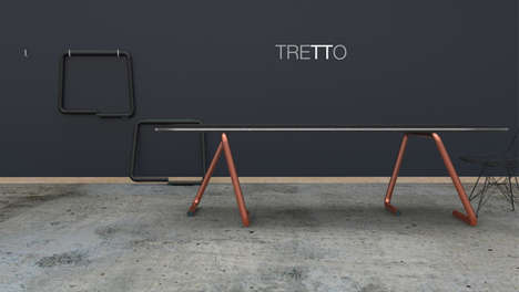 Arm-Inspired Table Trestles - Tretto by Tim Defleur is Based on an Isostatic System