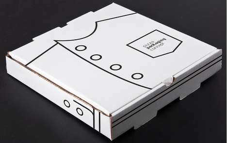 Suited Cardboard Cartons - This Pizza Packaging Concept References the Recipe