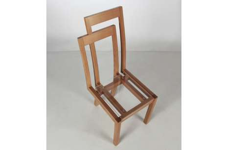 Illusory Siamese Seating - The Meander Chair is One Object That Appears to be Two Overlapped