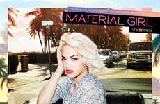 Youthful Rocker Fashion Ads - The Material Girl Spring 2014 Campaign Stars Recording Artist Rita Ora